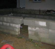 Mur de soubassement du VS entre garage et partie habitation, trou d'homme