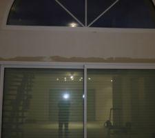 infiltration d eau cote sud au dessus de la baie vitree