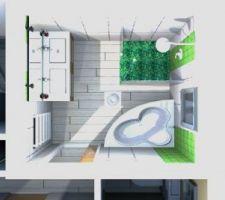 vue 3d avec faiences sdb enfant etage