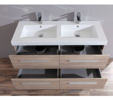 meuble double vasque en 120cm sdb des enfants a l etage