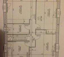 plan de base de la maison cote modifications nous aimerions creer un wc a cote de la salle de bain dans le petit coin de la chambre 2 et condamner le dressing pour transformer la chambre 3 en suite parentale avec un coin dressing et une petite salle d eau