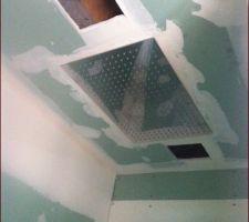 Le plafond de douche 40x60