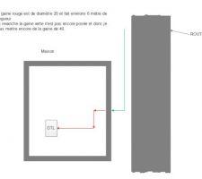 plan de pose des gaines en attente pour la fibre optique