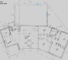plans de la maison actuelle le garage de 60 m est attenant a la maison l extension est prevue dans la partie droite du garage
