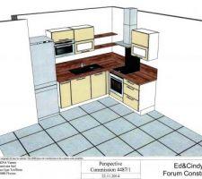 Proposition d'aménagement de la cuisine par Ixina. <br /> Supers tarifs, réactifs, performants et compétitifs !!!