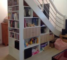 Aménagement sous escalier (pas tout à fait terminé)