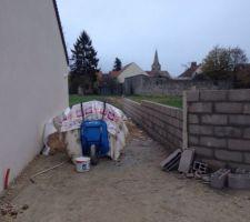 mur en cours