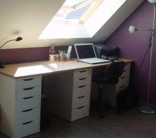 nouveau bureau dans la mezzanine