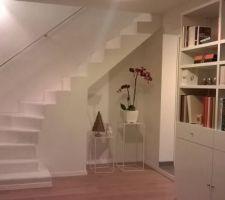 peinture de l escalier phase 2