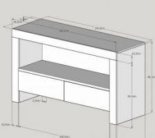 dessin du meuble de salle de bain fait maison