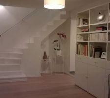 la peinture de l escalier phase 2