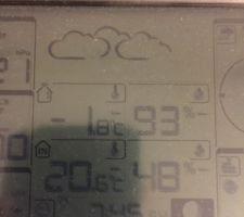 Température de 20,5°C et hygrométrie contrôlée de 48%