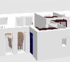 voici la vue 3d de la futur maison