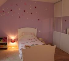 chambre fille 6 ans stickers 3d papillons
