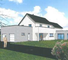 Implantation de la maison sur le terrain !  le projet prend tout a coup un brin de réalisme !
