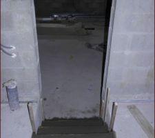 Escalier accès garage