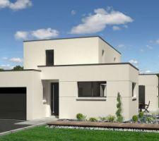Vue 3D de l'entrée de la maison