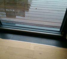 Habillage pied de baie vitrée