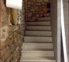 escalier sous sol en marbre reconstitue