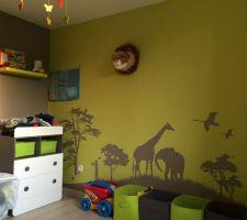La chambre de mon bebe Thème la savane