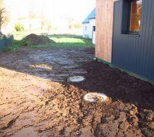 fosse de 3m2 pour la recuperation des eaux pluviales