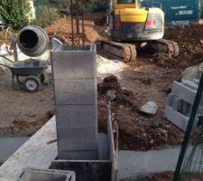 debut de piliers pour le portail