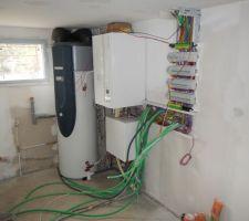 chauffage et tableau electrique en cours d installation