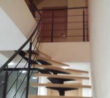 Escalier hête et acier - rambarde et garde-corps mezzanine