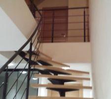 escalier hete et acier rambarde et garde corps mezzanine
