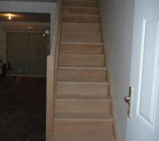 Escalier après ponçage