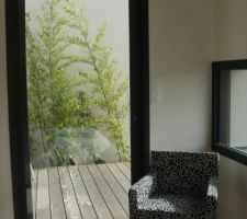baie galandage vers patio longue baie fixe vers la vue