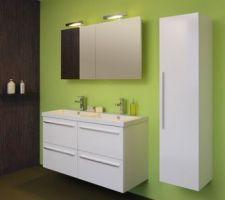 meuble de sdb parentale 120cm sanijura line couleur pour l instant amande laquee
