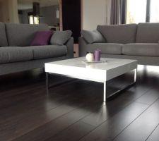 photos et id es salon salle manger sol bois fonc 78 photos. Black Bedroom Furniture Sets. Home Design Ideas