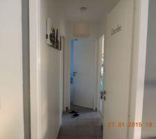 couloir qui sera prochainement peint