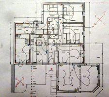 plan de la maison en vue de sa renovation disposition es pieces plan electrique etc