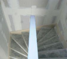 Escalier vu de l'étage