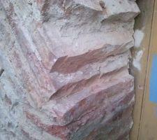certaines briques des pilier sont trops abimees il faut les tronconner et remplacer quelques morceaux