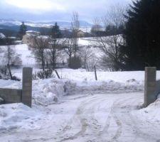 construction mur pause neige