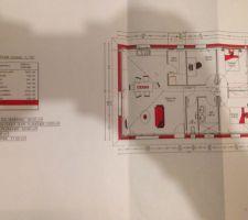 plan de la maison disposition et superficies