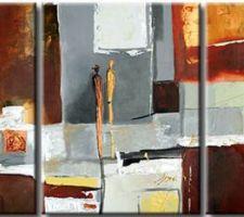 Impression sur toile Dans les rues - Lena BERG (243 * 108 cm)