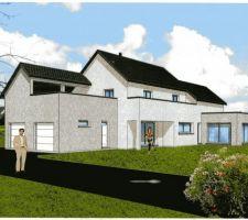 Voici la derniere version de notre maison, avec la terasse couverte !