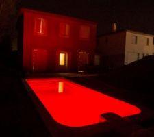 piscine en mode halloween