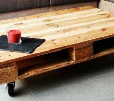 la table basse du salon faite maison