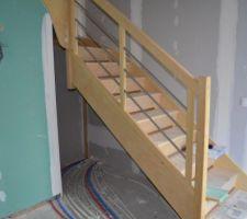 l escalier empiete sur le passage