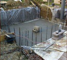 Dalle de 25 coulée 6M3 de beton