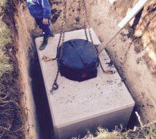 Cuve de récupération des eaux de pluies béton 5000L