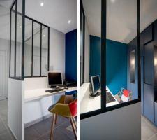 Exemple pour cloison vitrée du bureau
