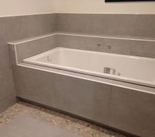 Salle de bain étage terminée - Baignoire