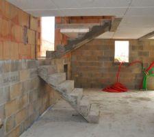 Escalier béton Brut à habiller