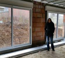 Vue intérieure des baies vitrées.